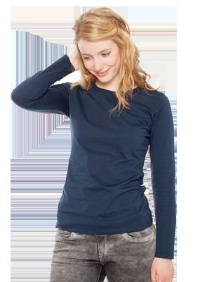 Design Fede Langærmede T shirts Til Damer Design din egen